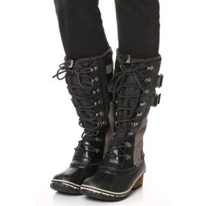 New Sorel Conquest Carly Tall Lace Boots